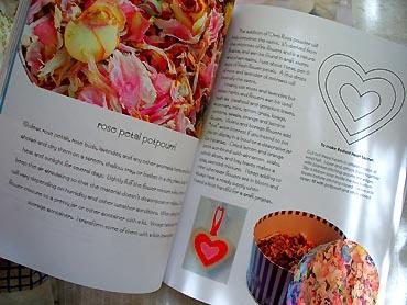 Rose petal potpourri