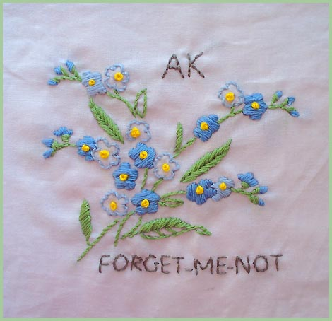 Turkey Feathers Alaska Forget Me Not