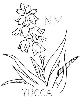 Galerry yucca flower coloring page