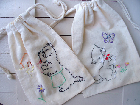 Cloth-drawstring-bags
